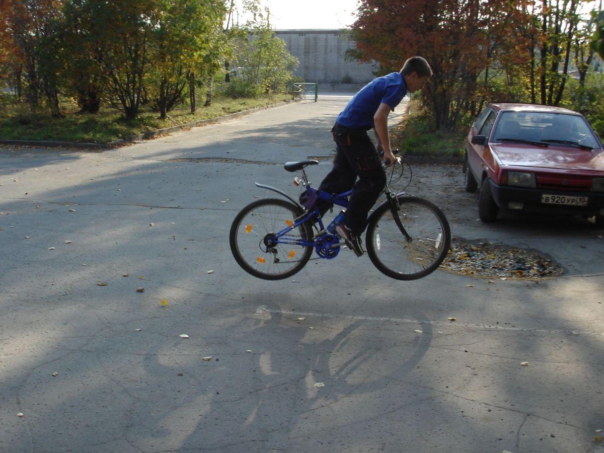 Как сделать на горном велосипеде трюки